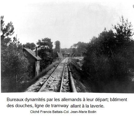 Bureaux dynamites au depart des allemands 1
