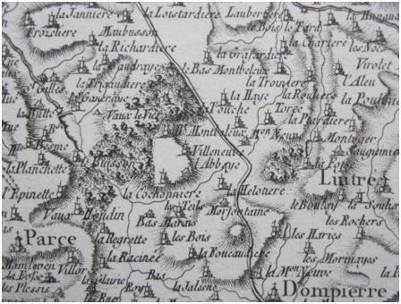 Carte de cassini detail