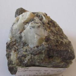 Eléments de quartz avec cassitérite et wolfram