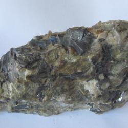 Echantillon de quartz et wolfram dans greisen