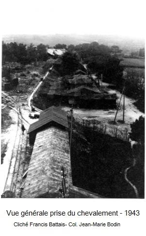 Vue generale prise du chevalement en 1945